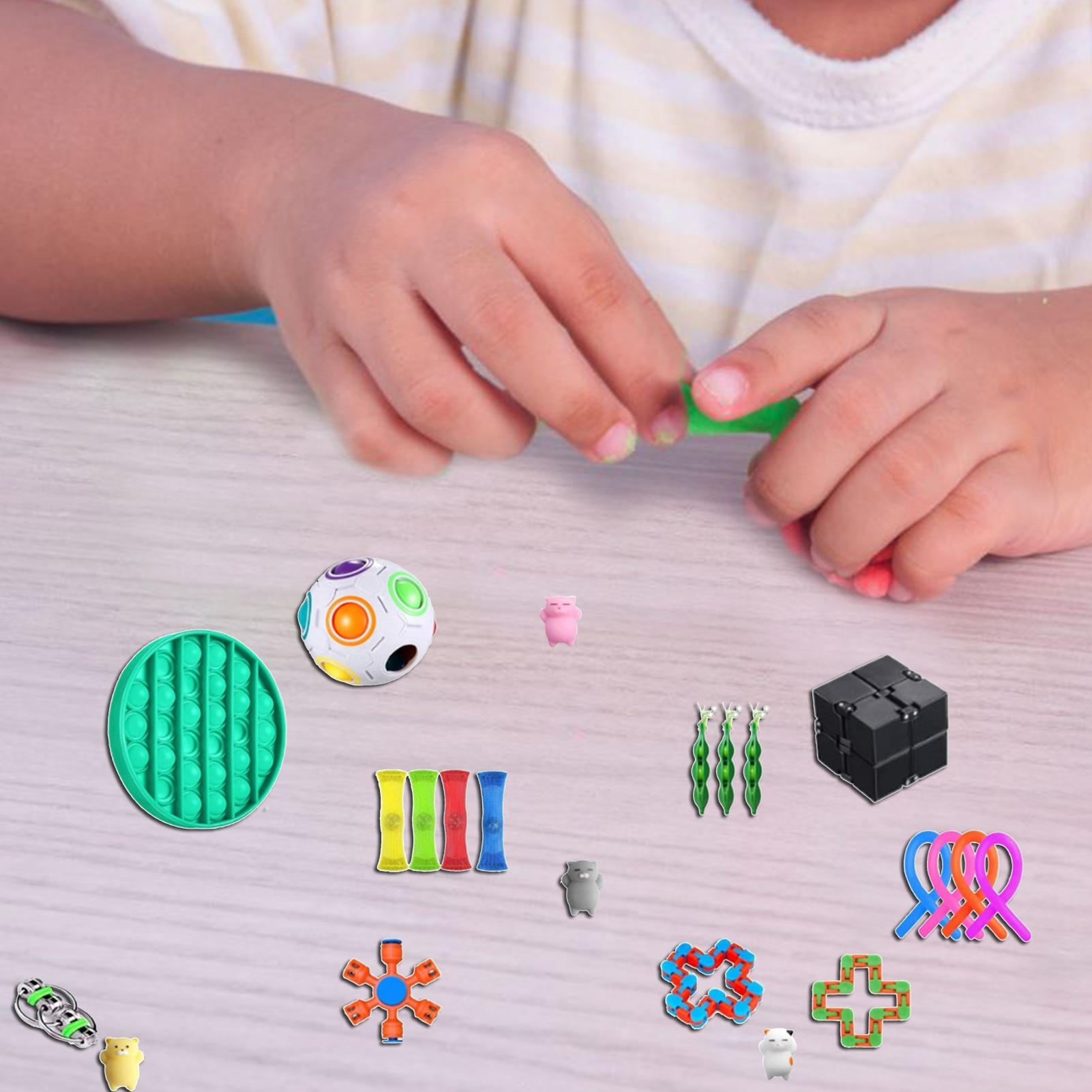 24Pcs Sensory Squeeze Toys Autism Squishy Stress Reliever Toys For Children And Adults Funny Anti-Stress Pops Bubble Fidget Toys enlarge