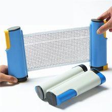 Nouveau filet de Ping-Pong rétractable grille de Table en plastique solide maille Kit de filet Portable support de filet remplacer le Kit pour jouer au Ping-Pong