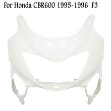 Carénage de nez de capot avant supérieur non peint pour Honda CBR600 F4 1999 2000