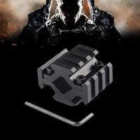 20mm 4 sided guide rail aluminium alloy 3 slots sight clips handguard scope bases mount adapter for scope optics flashlight