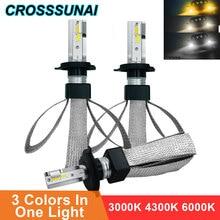 H11 H1 Auto LED Licht H4 H7 H3 880 9005 9006 H27 HB2 HB3 HB4 LED Scheinwerfer Lampe Auto Lampe CSP Chip Automotivo 3000K 4300K 6000K