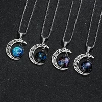 twelve constellation pendant necklace for men rock style party titanium steel halter chain necklace jewelry dropshipping
