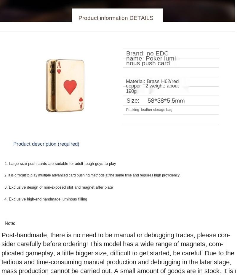 Crafts Factory Laowan AA Wang Fried Pop Brand Fingertip Gyro Decompression Edcppp Egg Pusher Poker Pusher enlarge