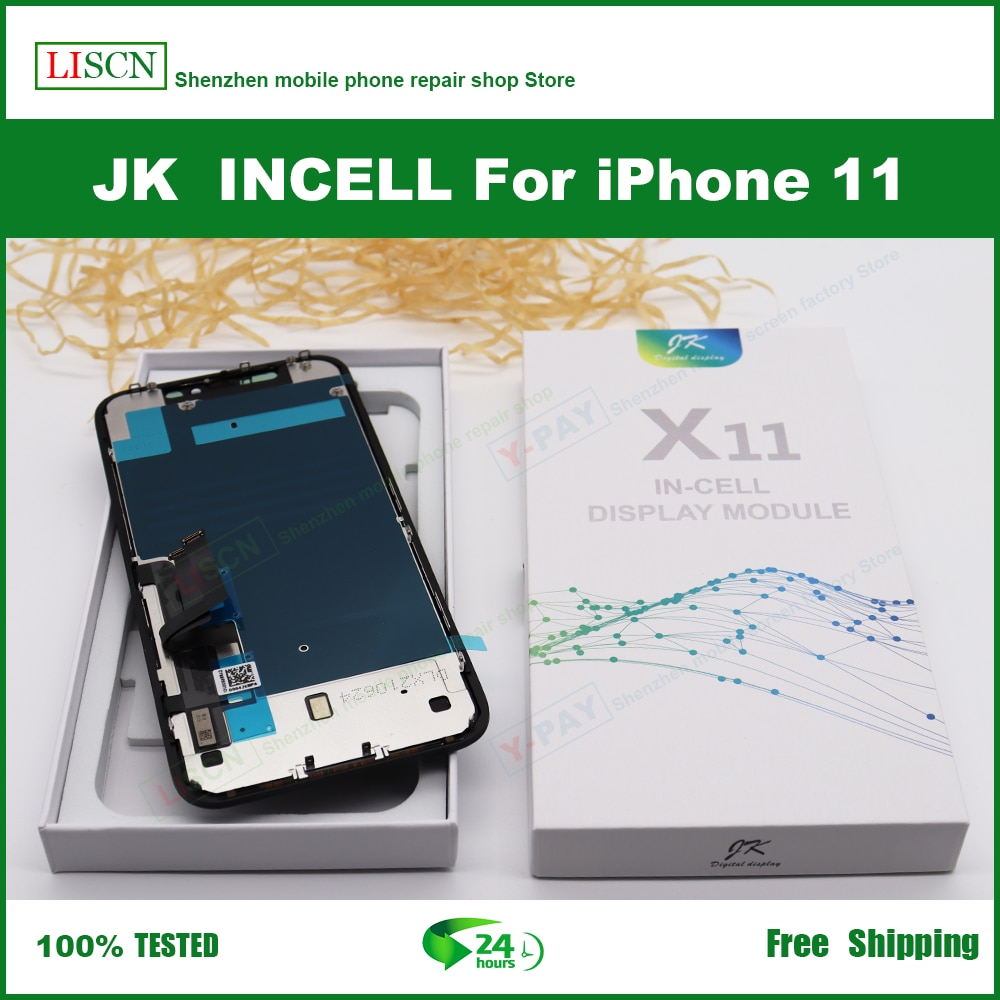 JK Incell Screen For iPhone X XR Xs Max 11 12 12Pro LCD Display Touch Screen Digitizer Assembly No Dead Pixel Replacement Parts enlarge