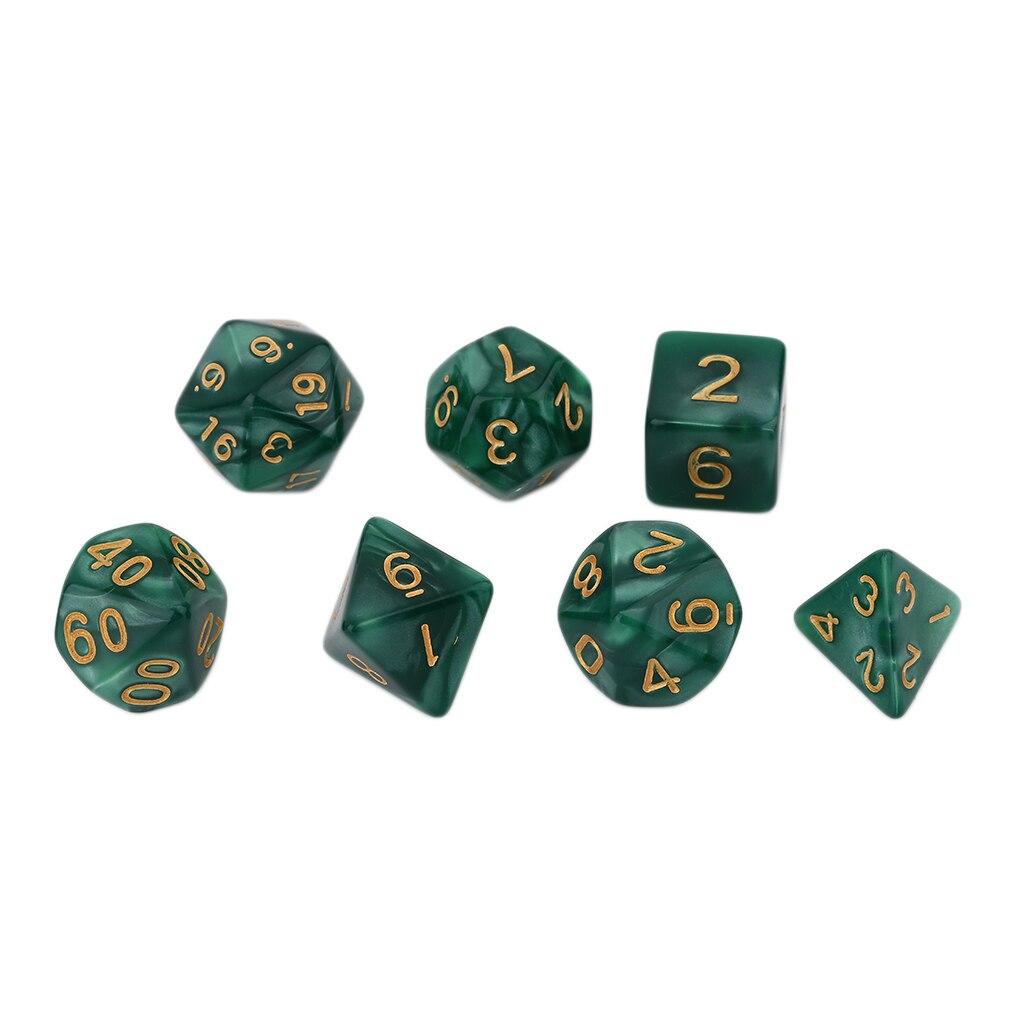 Juego de 7 Uds. De perlas de colores brillantes, perlas multifacetadas, Dice16-20Mm acrílicas Gemmed D4 D6 D8 D10 D12 D20