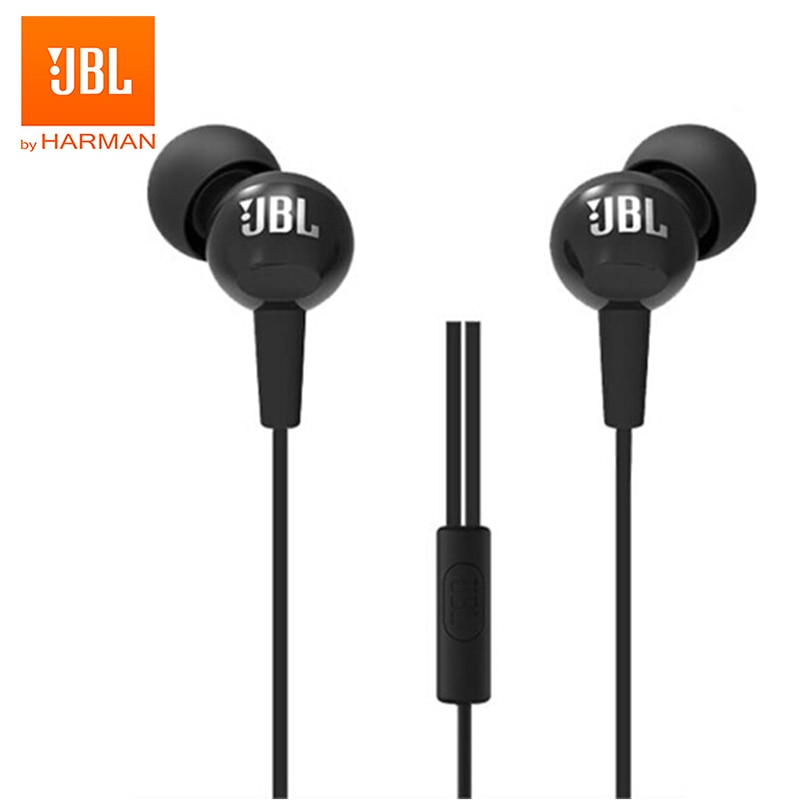 JBL C100Si Original 3.5mm Wired Stereo Earphones Deep Bass Music Sports Headset Running Earphone Hands-free Call with Microphone