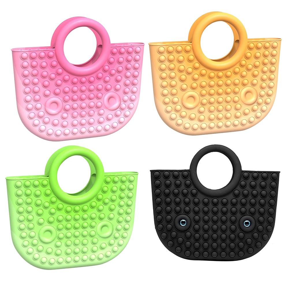 Модная силиконовая пузырьковая Сумочка для пальцев, игрушки для снятия стресса, сжимаемые игрушки для взрослых и детей, игрушки для снятия ...