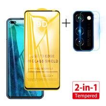 2in1 protecteur décran pour Huawei P40 Lite E p40 lentille Film verre caméra verre trempé pour Huawei P40 Lite P 40 verre de protection