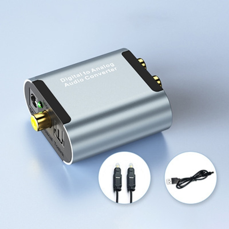 Digital to Analog Audio Converter Optical RCA L/R Adapter Amplifier