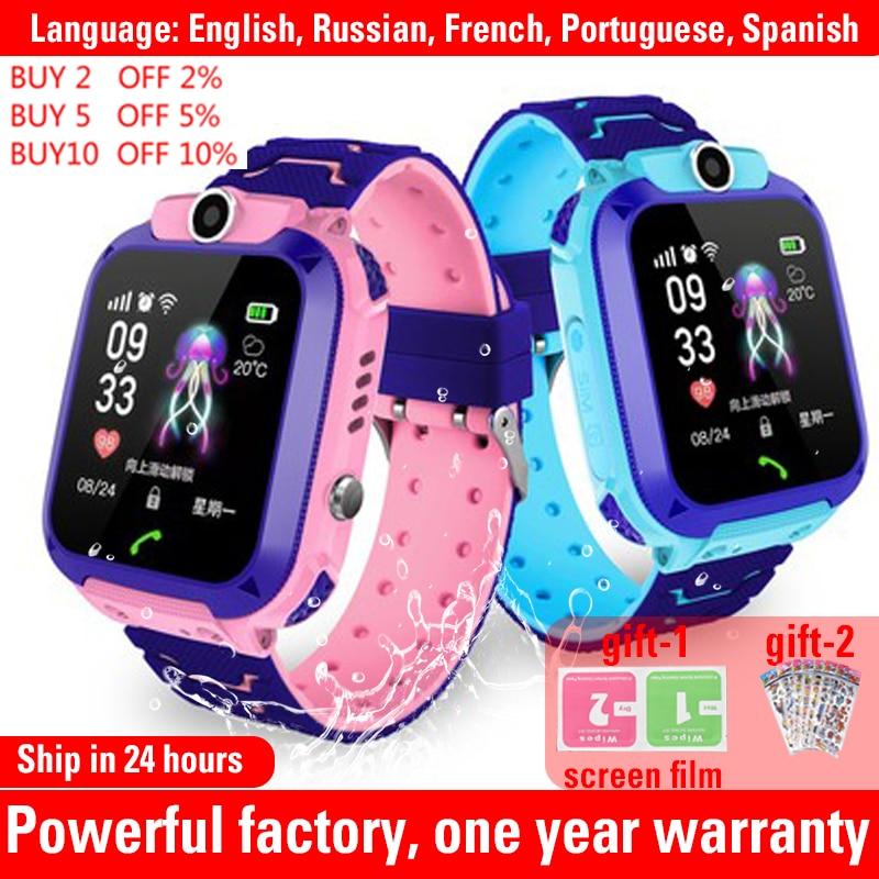 Q12 Kids Smart Watch Waterproof IP67 SOS Antil-lost phone watch Baby 2G SIM Card  Call Location Tracker child Smartwatch PK q15