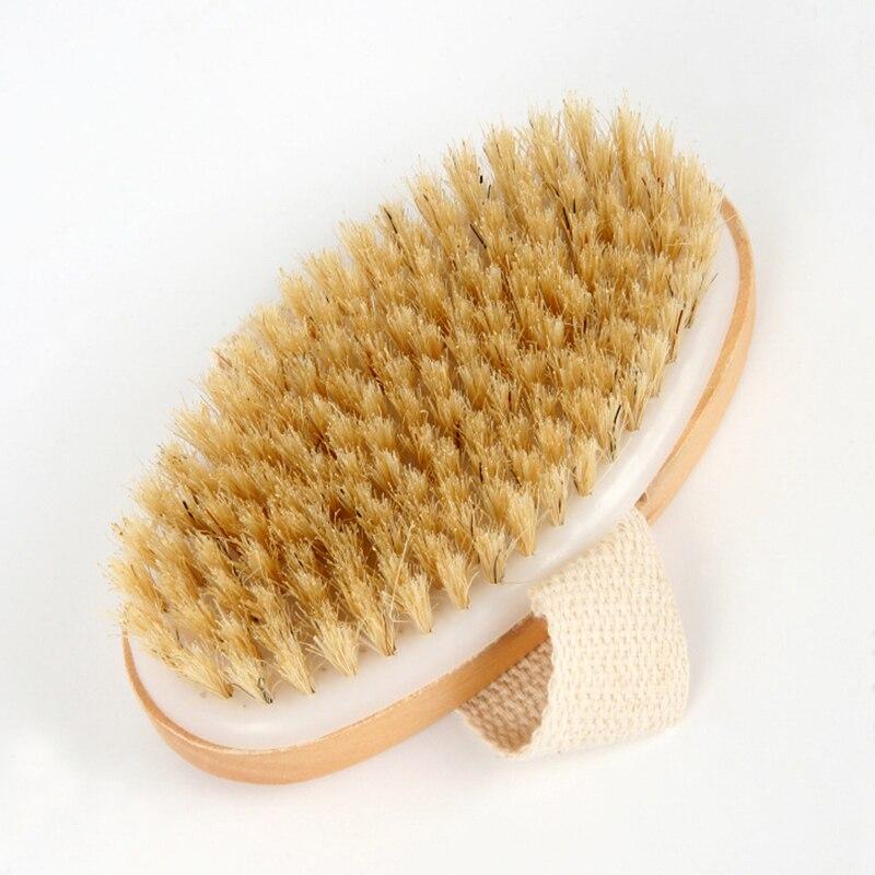 Natural Bristle Bath Brush Exfoliating Wooden Body Massage Shower Brush SPA Woman Man Skin Care Dry Body Brush недорого