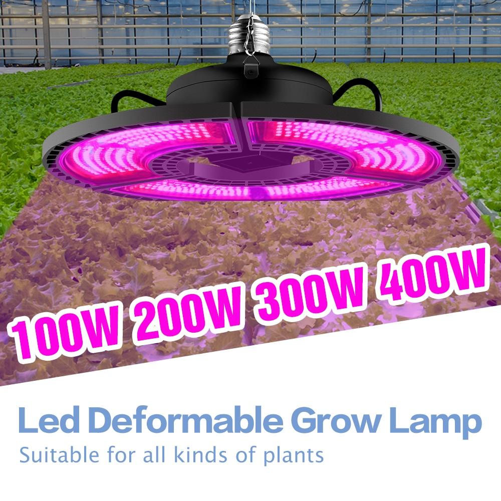 LED Phytolamp For Plants LED Grow Lights Bulb 220V Hydroponics Lampara LED Greenhouse Plants Seeds Bombilla 100W 200W 300W 400W