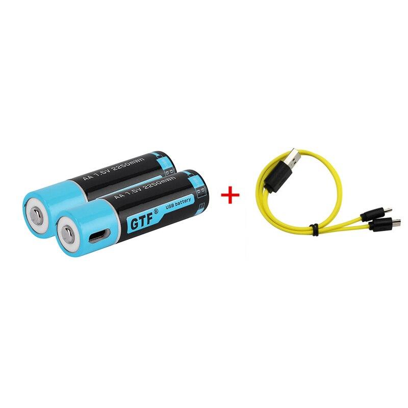 1,5 V USB AA li-ion batería 2550mwh 1500mah 100% capacidad li-polímero USB recargable litio usb cable de la batería USB