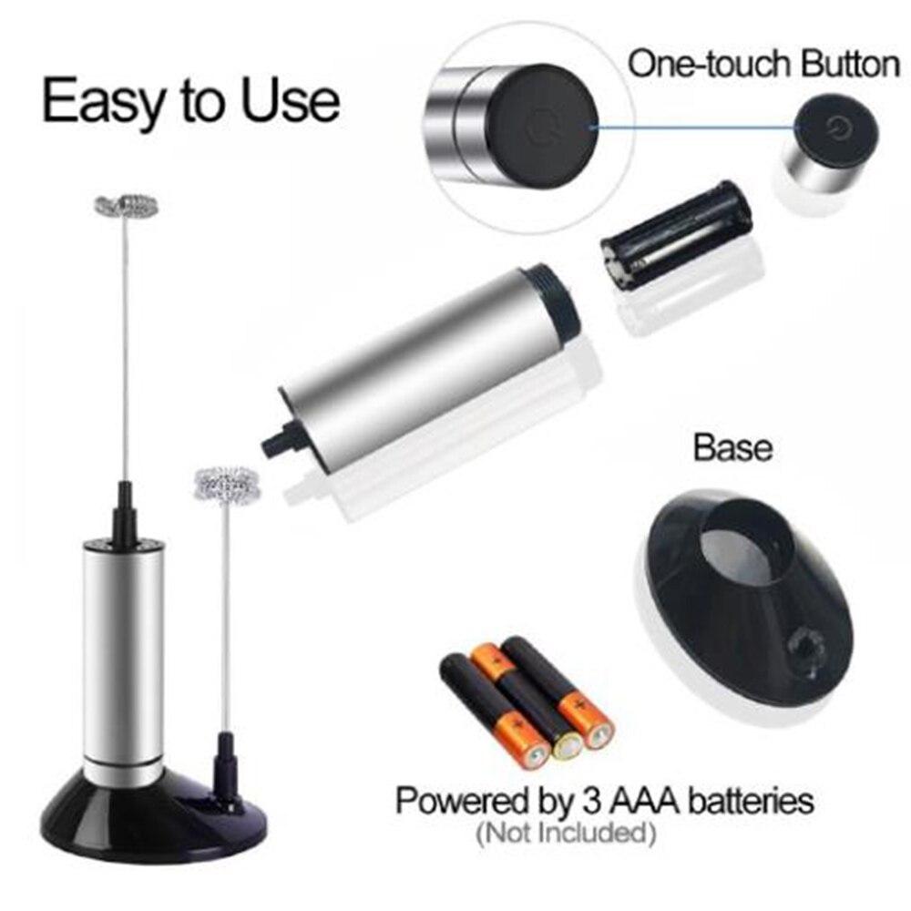 Batidora eléctrica de espuma para leche, batidora de huevos, herramienta recargable de mano, accesorios de cocina para el hogar