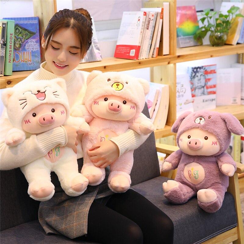 Симпатичная плюшевая игрушка свинья для косплея, креативные мягкие куклы Nimal, подушки для дивана, милые домашние украшения, успокаивающие к...