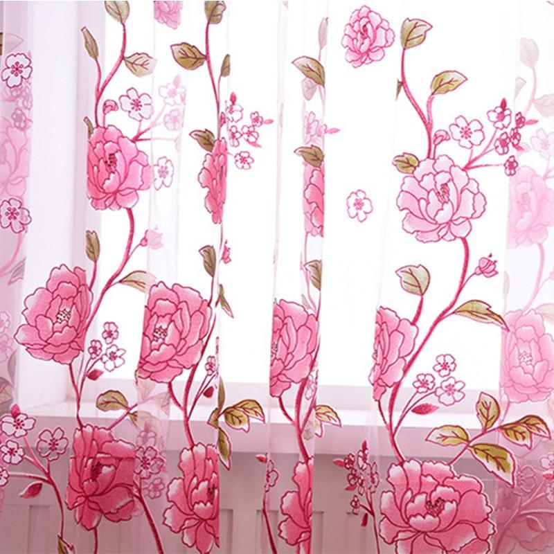 Tüll auf Die Fenster Vorhänge In Wohnzimmer Vorhang Waren für Haus und Küche Jalousien Gehäuse Verblassen In Die Schlafzimmer halle Rose
