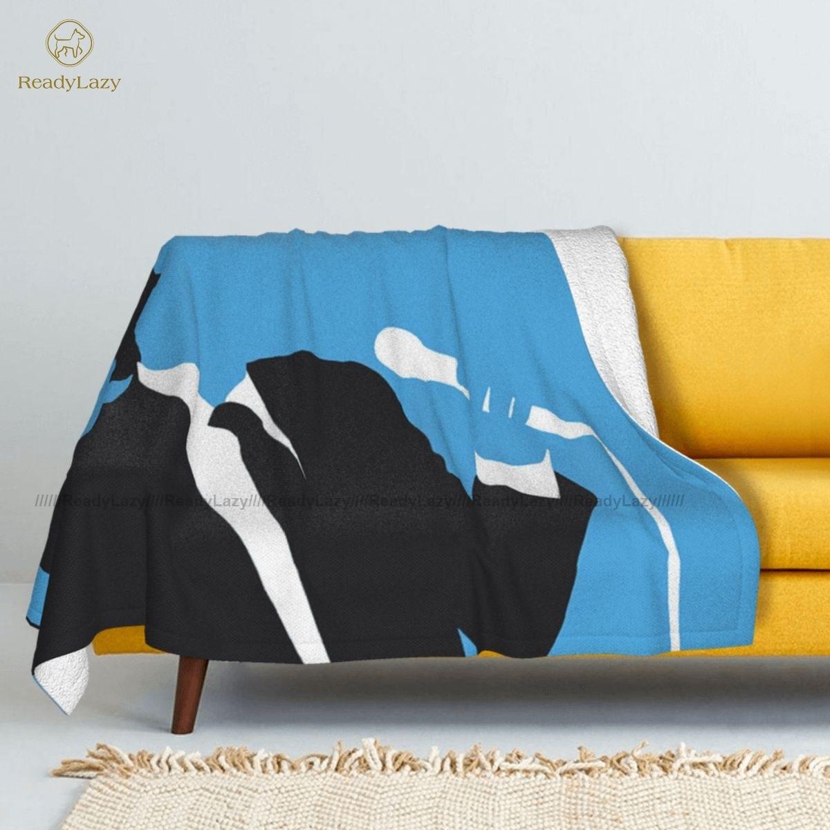 بطانية جوني هاليداي ، غطاء سرير من الصوف ، ناعم ومريح ، عصري ، صيفي