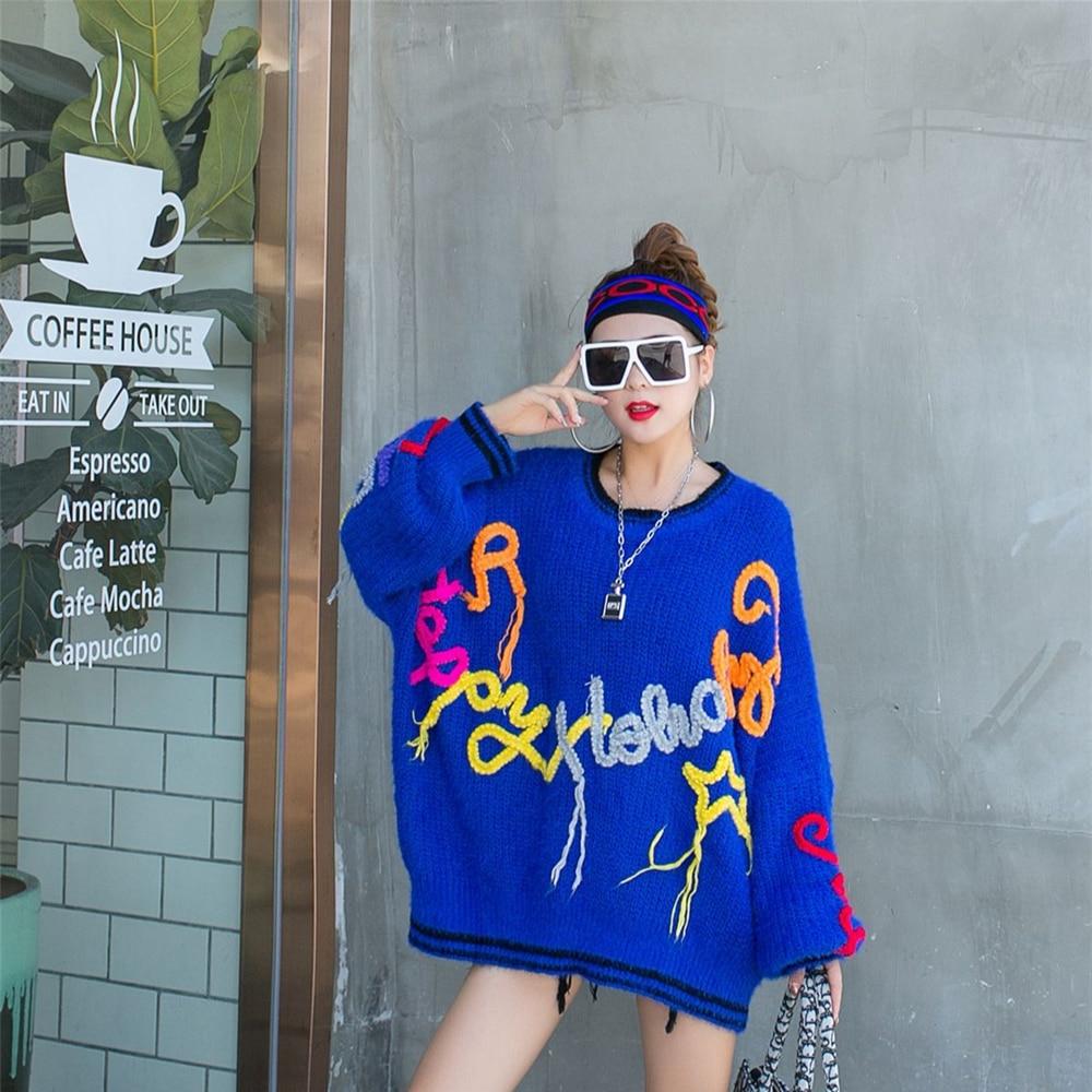 женские свитера Tassel Knitted Sweater Women Oversize 2021 Spring Autumn Fashion Long Sleeve O-Neck Pullover Female Top