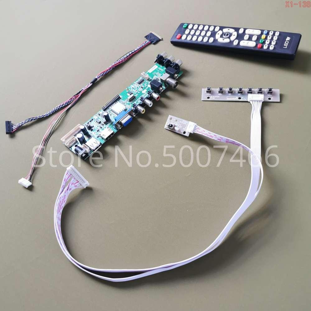 Fit LP140WH2-TLB1/TLC1/TLD3/TLN1/TLN2 AV HDMI VGA USB DVB 1366*768 40pin LVDS upgrade 3663 TV digital screen LCD stick board Kit