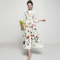 quality new lk2235high fashion women 2021 lady luxury famous brand european design party style dress