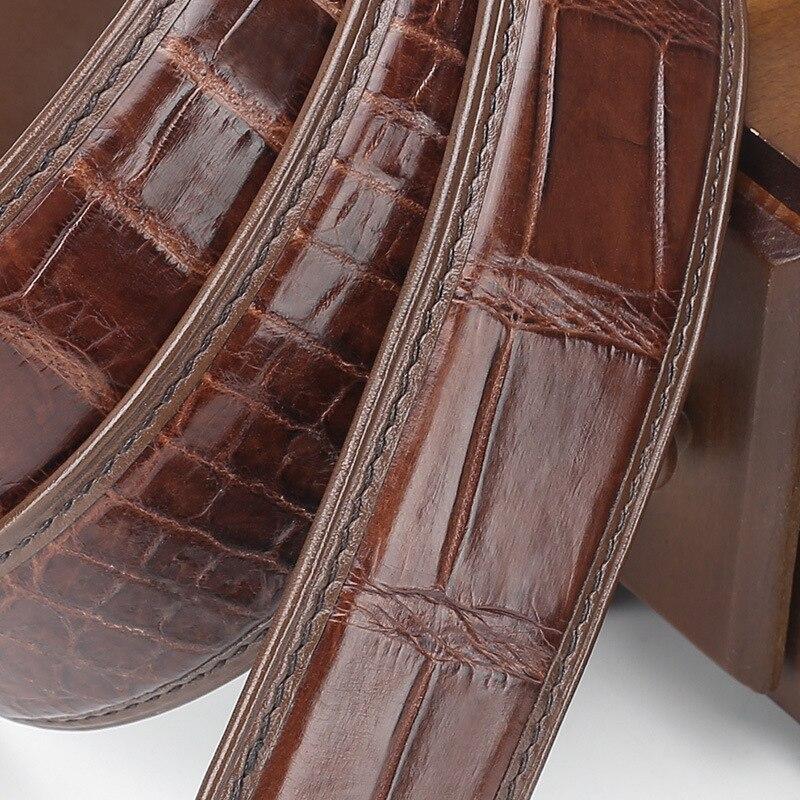 2021 موضة جديدة 3.4 سنتيمتر مشبك حزام تلقائي جودة عالية للرجال النساء حقيقية التمساح حزام جلد فاخر crocodريال شحن مجاني