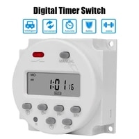 cn101a digital timer switch 12v 24v 220v microcomputer programmable electronic timer rechargeable time programmer