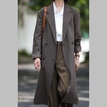 Korean casual suit jacket women 2021 autumn new style temperament design sense mid-length suit jacke