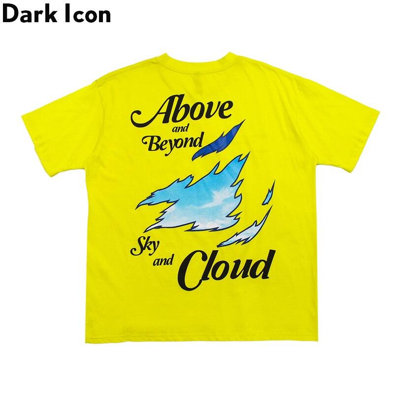 Dark Icon Printing T-shirt Men 2020 Summer Hip Hop Tshirts Cotton Men's Tee Shirts Streetwewar