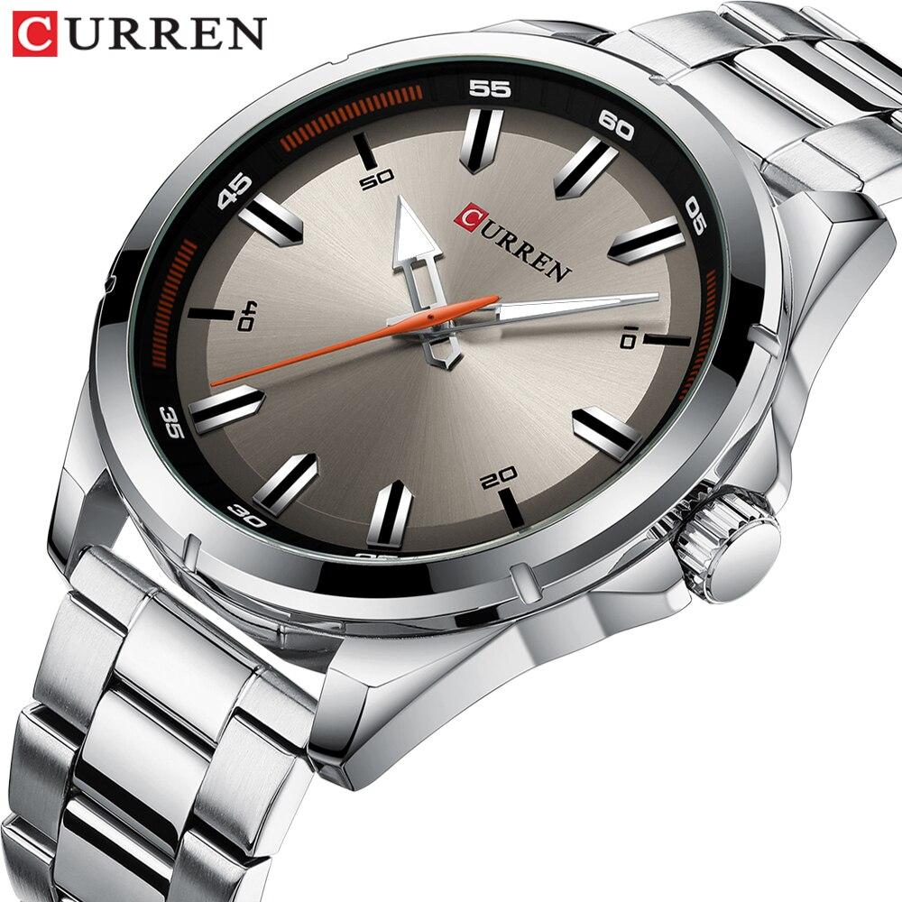 CURREN edelstahl herren Uhren Einfache Quarz Armbanduhr Militär Armee Uhr Männlich Relogio Masculino
