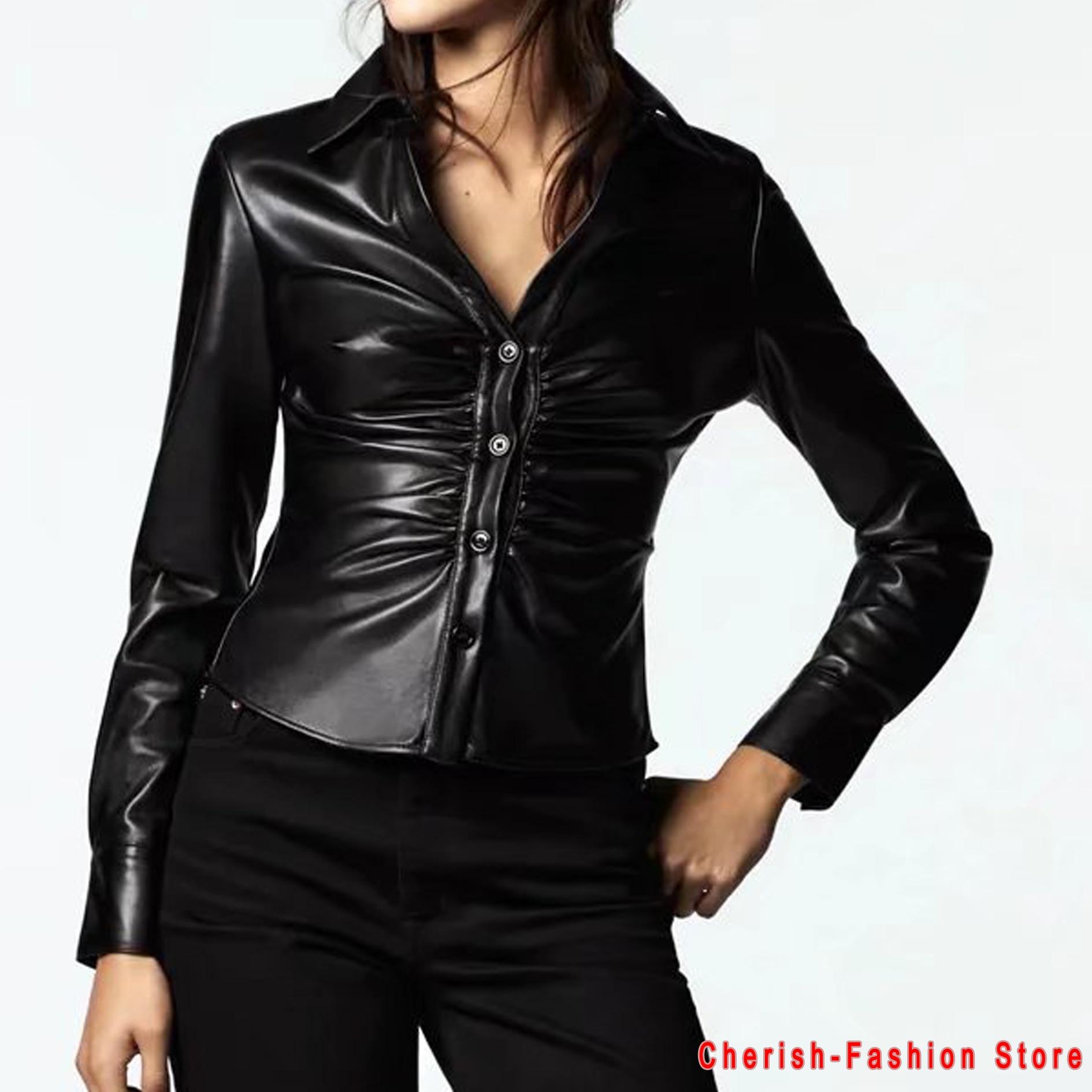 Новое поступление брендовые зимние осенние черные мотоциклетные кожаные куртки брендовая кожаная куртка женское кожаное пальто свободная...