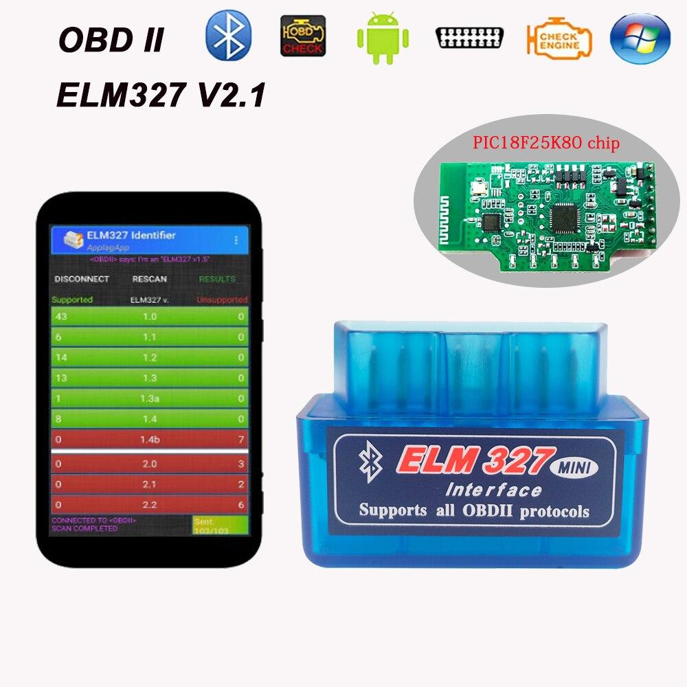 Varios idiomas ELM327 V2.1, Protocolo Bluetooth OBDII para FIAT 2002, Ulysse, Panda, Punto EVO, Linea, Sedici, Qubo, Doblo ELM 327 OBD 2