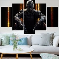 5 pieces wall art canvas painting game character poster modern living room bedroom home decoration modular framework pictures