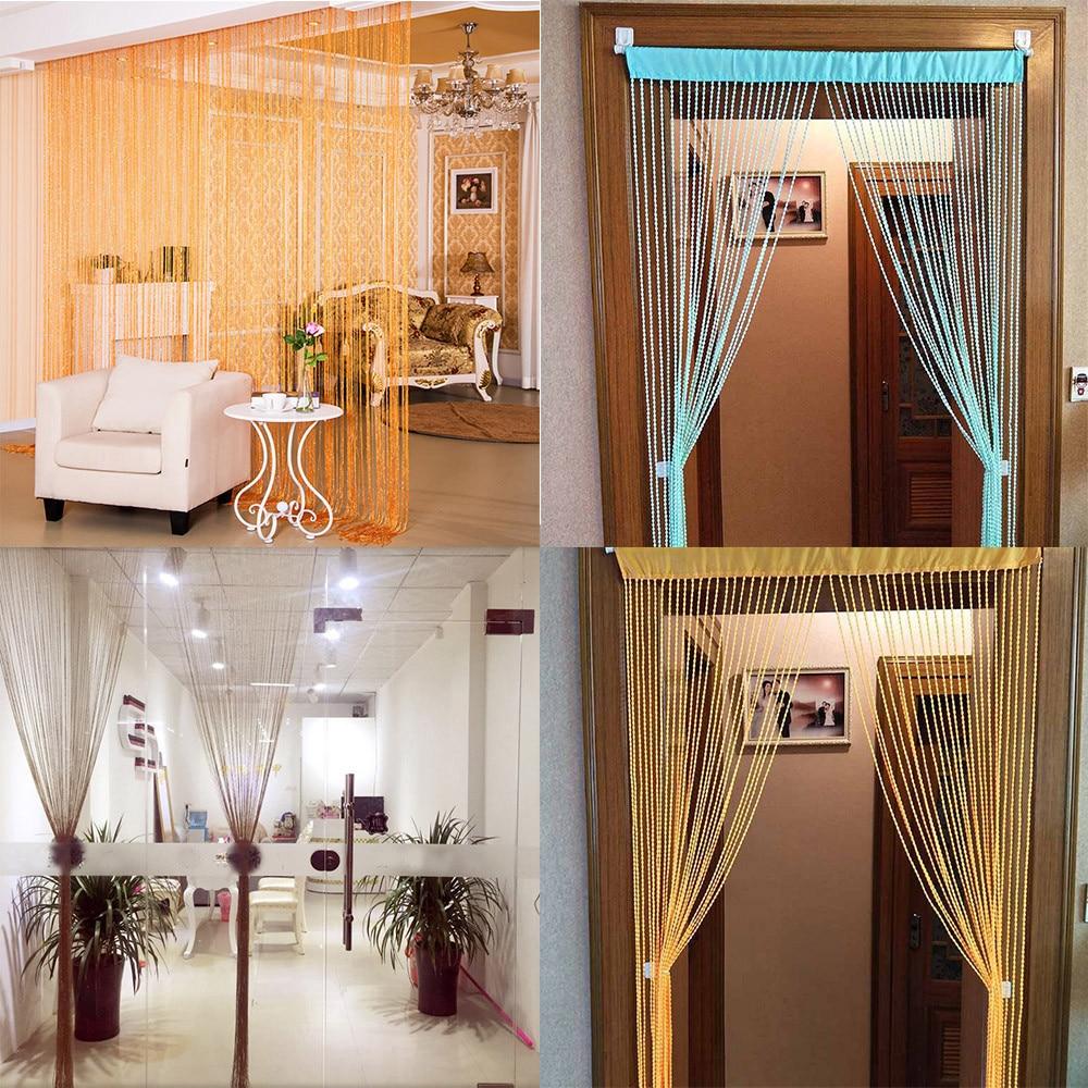 String cortinas pátio net franja para porta tela mosca janelas divisor cortar para tamanho cortinas para sala de estar decoração casa #40