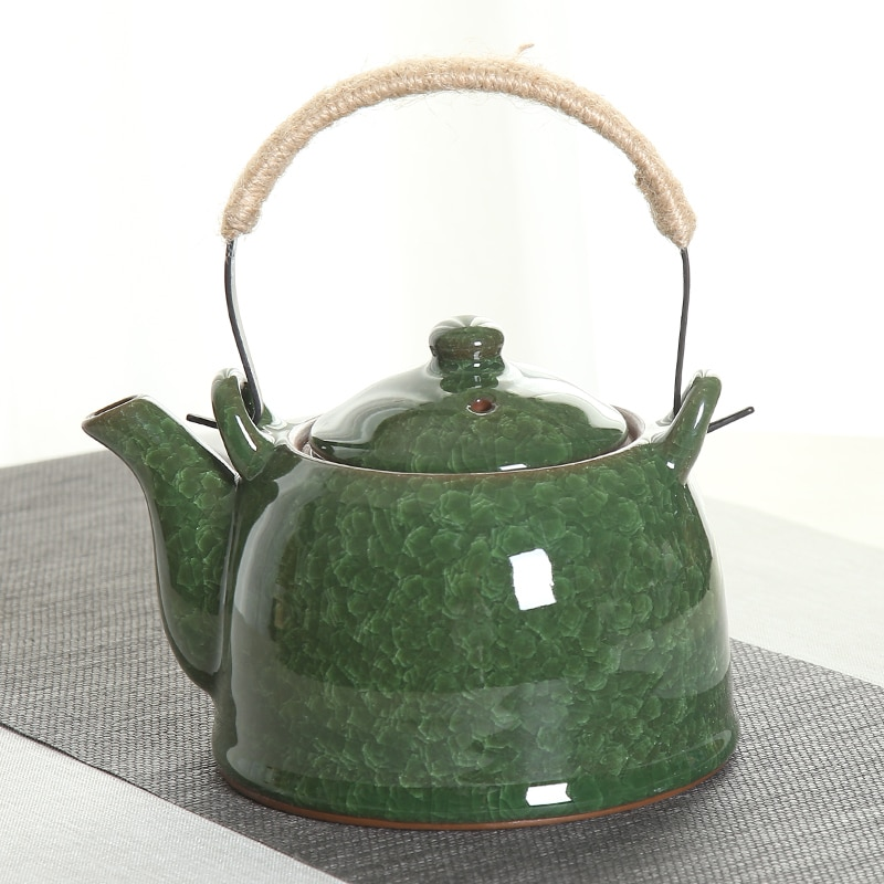 النمط الصيني إبريق شاي من السيراميك = حلقة التعامل مع إبريق الشاي طقم شاي واحد إبريق الشاي = إبريق الشاي مطعم براد شاي = المنزلية