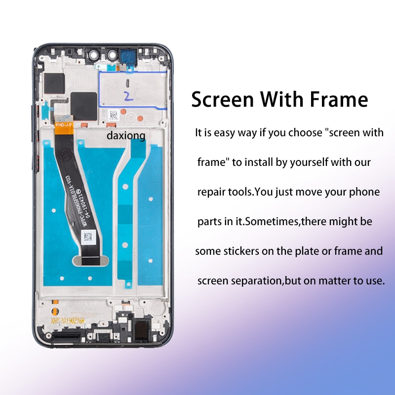 100% Test 6.59'Full LCD DIsplay+Touch Screen Digitizer Assembly For Huawei Y9 2019 LCD JKM-LX1 JKM-LX2 JKM-LX3 enlarge