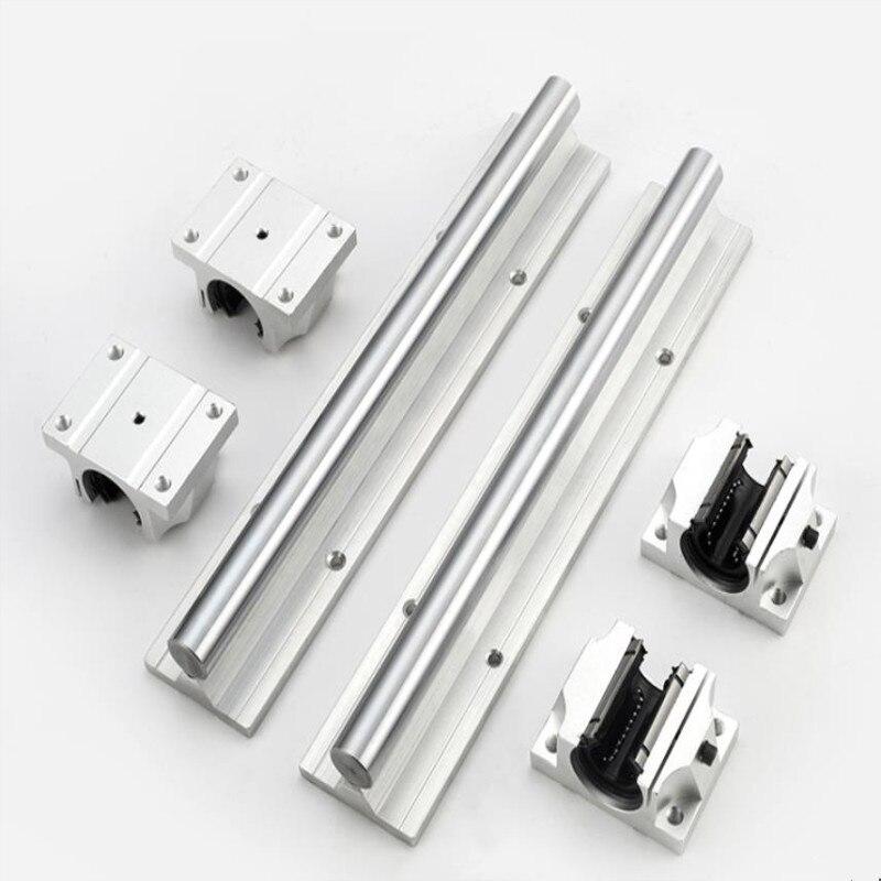دعم محمل كروي خطي ، كتلة دعم لموجه CNC لأجزاء الطابعة ثلاثية الأبعاد ، 2pcsTBR1 6/20/TBR25/30-1050mm-2000mm ، 4 قطعة TBR16/20/25/30LUU