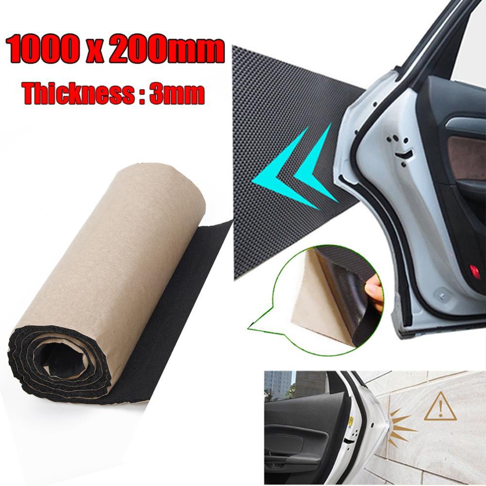 Alfombrilla de puerta de coche de goma de espuma gruesa Protector de parachoques de puerta de coche Protector de pared de garaje Estacionamiento de seguridad 100*20*0,3 cm estera de protección de puerta de coche