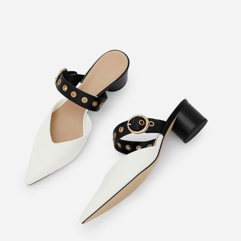 2020 primavera e l'estate nuovi prodotti sandali con tacco alto a punta da donna sandali con tacco spesso scarpe da donna
