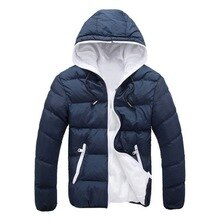 MJARTORIA 2019 Men Casual Hooded Parka Winter Men Fashion Patchwork Cotton Slim Fit Coat Thick Warm Homme's Parka Zipper Jacket
