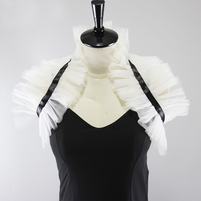 Gothic Middle Ages Ruff Collar Vintage Neck Ruffled Collars Costumes Accessories Handmade