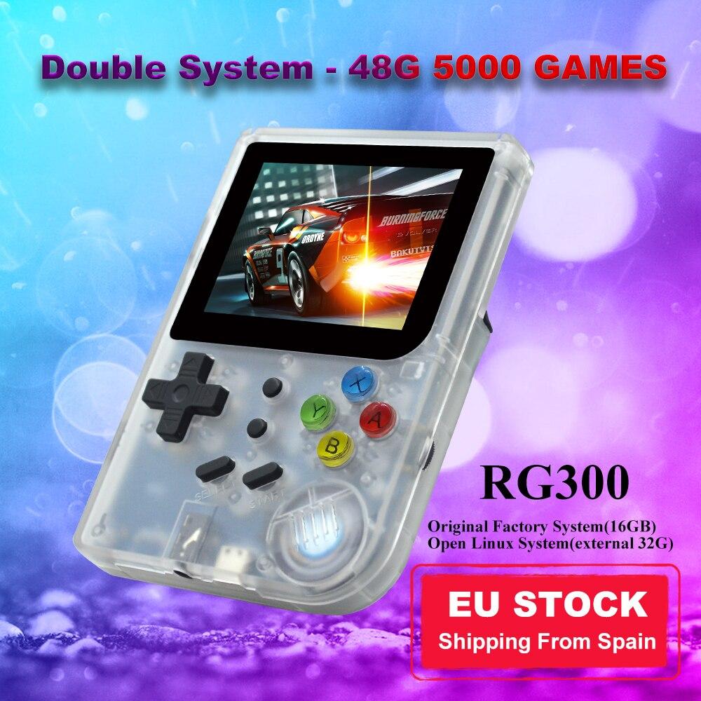 ANBERNIC nuevo RG300 Consola de juegos Retro IPS pantalla doble sistema 48G...
