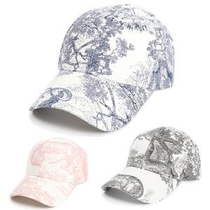 Women's Cap New Baseball Cap Unisex Chinese Painting Landscape Painting Curved Brim Cap Sun Hat