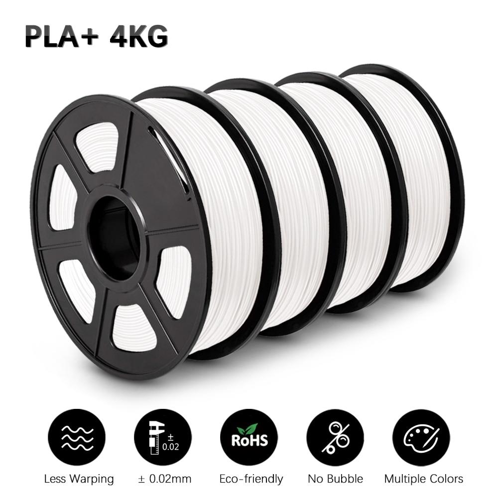 PLA زائد خيوط ل FDM3D طابعة خيوط PLA 1 كجم 4 لفات/مجموعة 1.75 مللي متر صلابة جيدة شحن سريع