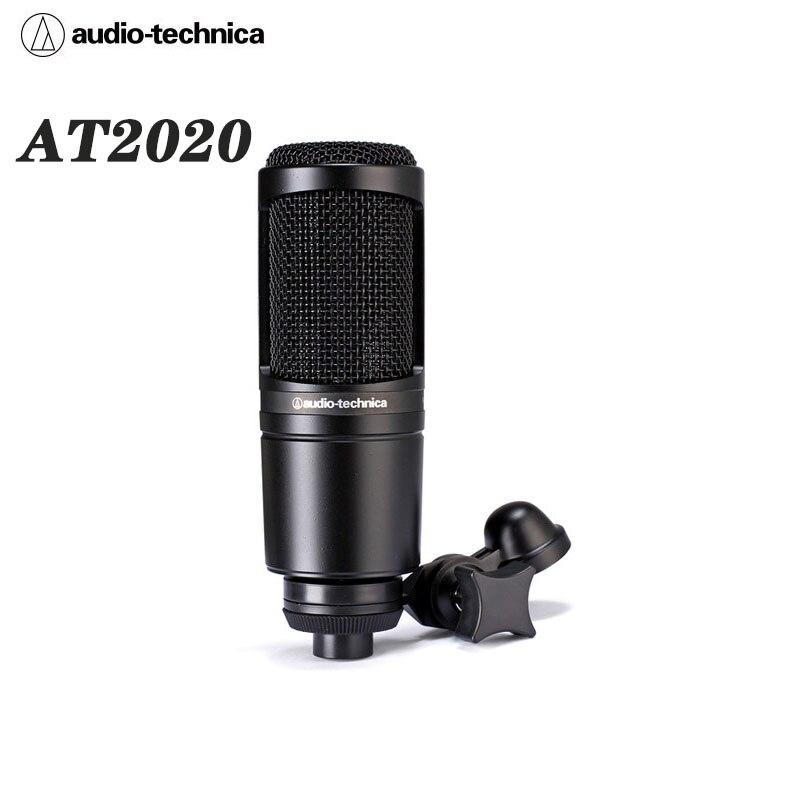 الصوت الأصلي تكنيكا AT2020 السلكية مكثف القلب ميكروفون K أغنية AT2020USB +