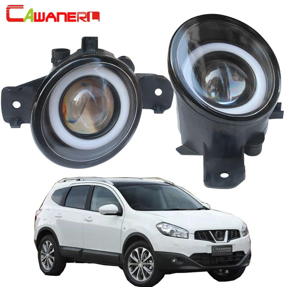 Cawanerl para Nissan Dualis (J10, JJ10) 2007-2015 coche H11 3000LM luz LED antiniebla Ojo de Ángel luz diurna DRL 12V 2 piezas