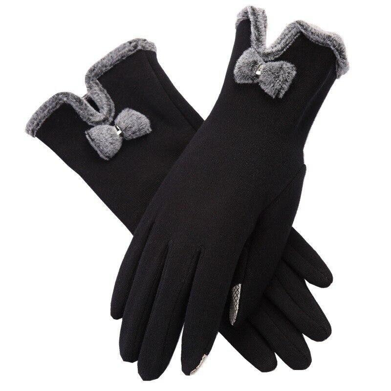 Women Femme Touch Screen Warm Glove Fashion Mittens Winter Female Women Glove Wrist Soft Glove