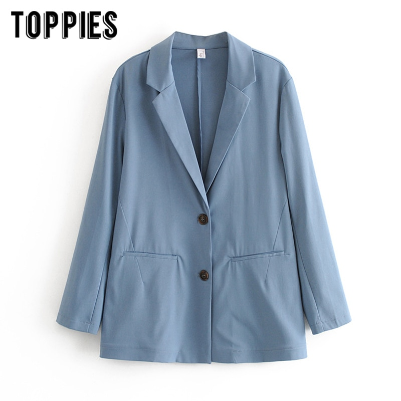 Blazers de verano para mujer, chaqueta fina para mujer, chaqueta formal de oficina para mujer, abrigo holgado de un solo pecho, ropa 2020