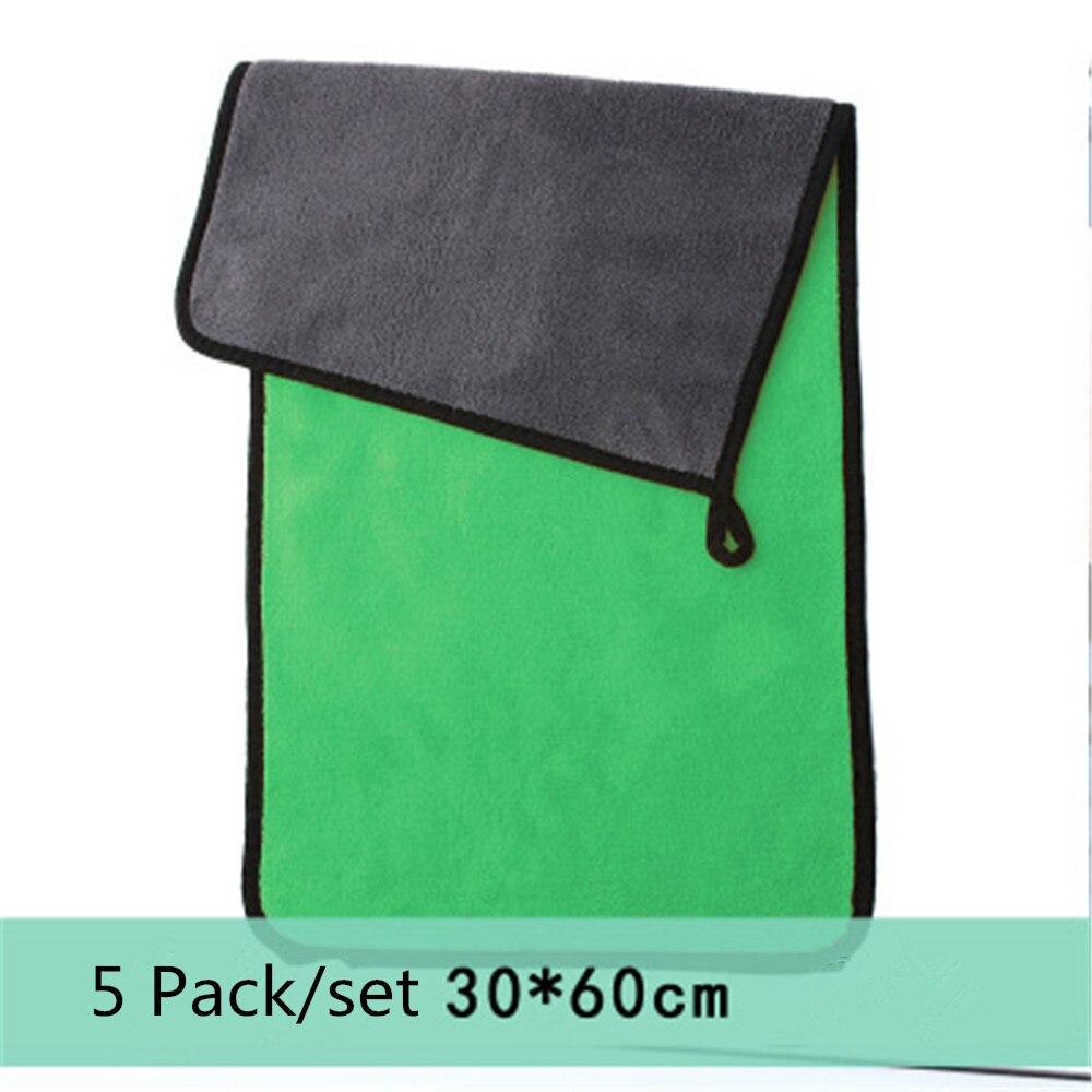 5 uds 600gsm toallas de microfibra para lavado de coches súper grueso paño de felpa para limpieza secado absorción de cera pulido detallado de coches