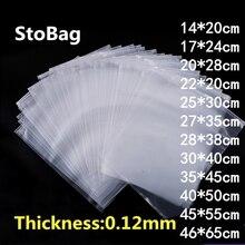 StoBag pochettes demballage en plastique   Transparent et Transparent de 10 pièces, pochette de rangement de voyage en tissu, sac étanche, fermeture éclair, sac dorganisation en tissu avec fermeture automatique