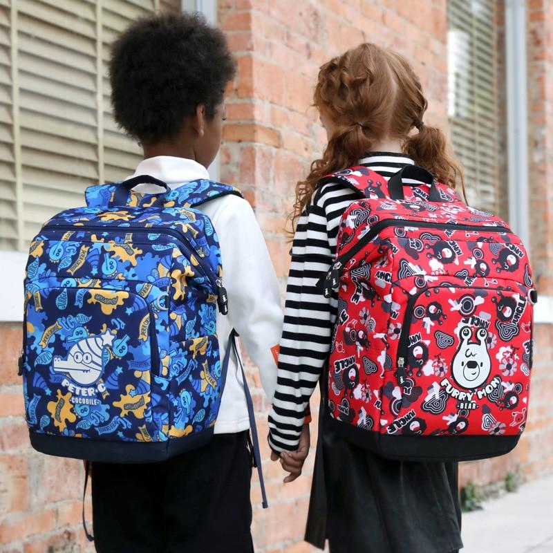 Bolso de lona multifunción para matrícula, bolsa de libros para estudiantes, bolso escolar de alta calidad, mochila para niñas y niños, mochila ortopédica resistente al agua